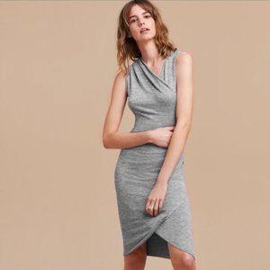 Aritzia Wilfred Free Grey Izidora Dress Size Large